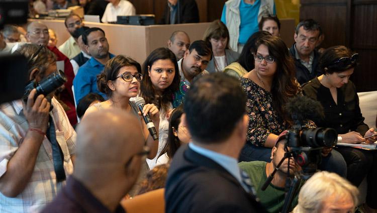 Domande e risposte con Sua Santità il Dalai Lama durante la conferenza stampa di lancio globale di SEE Learning a Nuova Delhi, India, il 4 aprile 2019. Foto di Tenzin Choejor